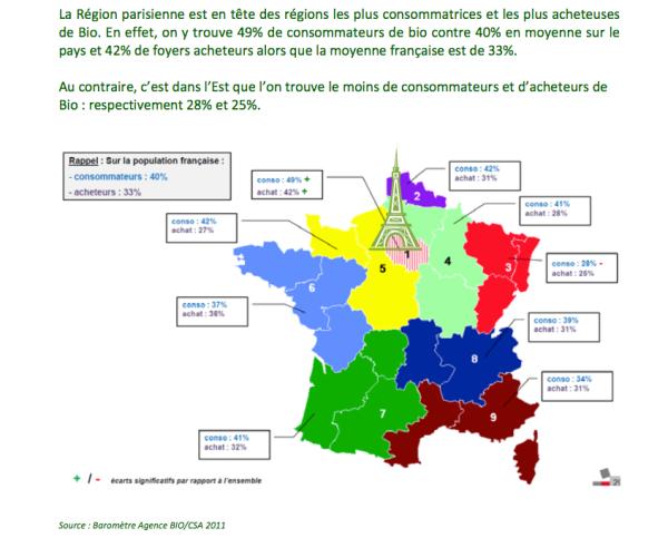 Carte De France Consommation Bio